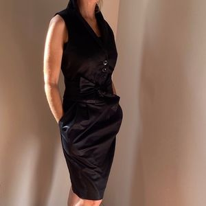 Marc by Marc Jacobs black tuxedo dress size 8